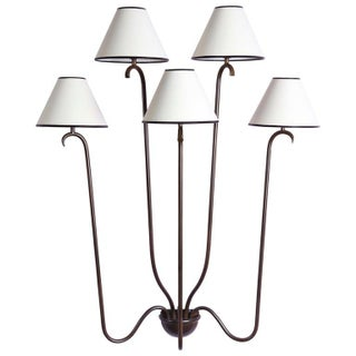 "Large ""Jet D'Eau"" Five-Arm Wall Light in the Style of Jean Royère Preview"