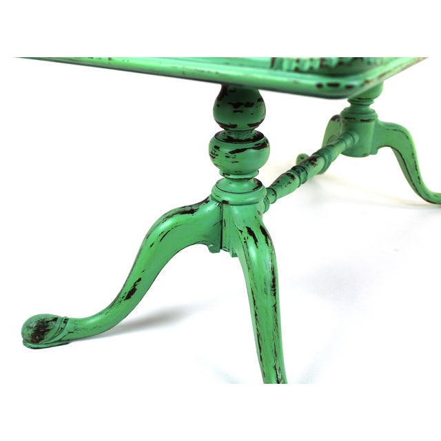 Georgian Vintage Georgian Style Green Painted Coffee Table For Sale - Image 3 of 7