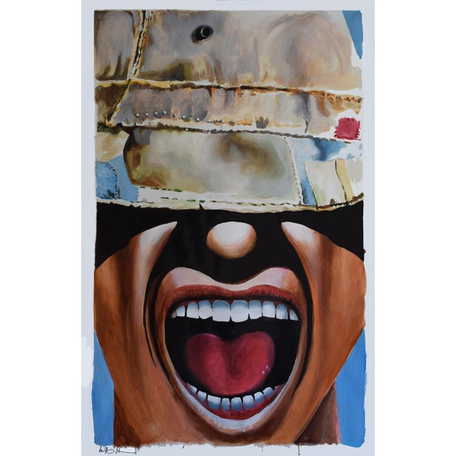"""""""Moron Hat ( Guy)"""" Original Painting by Geoff Greene For Sale"""