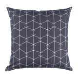 Image of Contemporary Ferrick Mason Criss Cross Outdoor Charcoal Pillow For Sale
