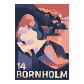 Danish Modern Travel Poster, Bornholm 2014 For Sale