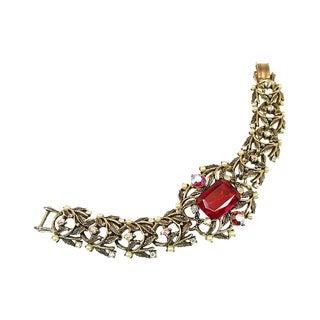 Amerique Ruby Crystal Bracelet, 1950s For Sale