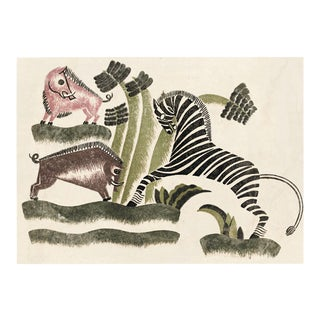 Animals Playing 2, Unframed Artwork For Sale