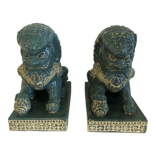 Vintage Large Foo Dogs - a Pair For Sale