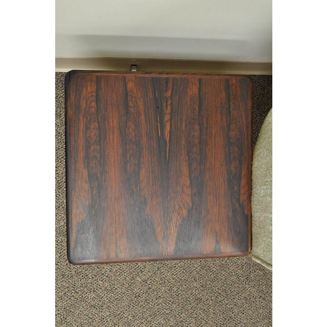 Vintage Mid-Century Danish Modern Rosewood End Tables Club Chairs Sectional Sofa - 2 Piece For Sale In Philadelphia - Image 6 of 13