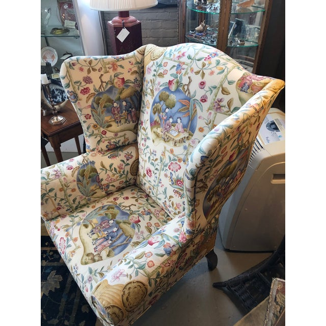 Wood Early 19th Century Antique William IV English Wingback Armchair For Sale - Image 7 of 10