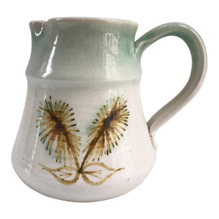Midcentury Vintage Studio Pottery Water Pitcher For Sale