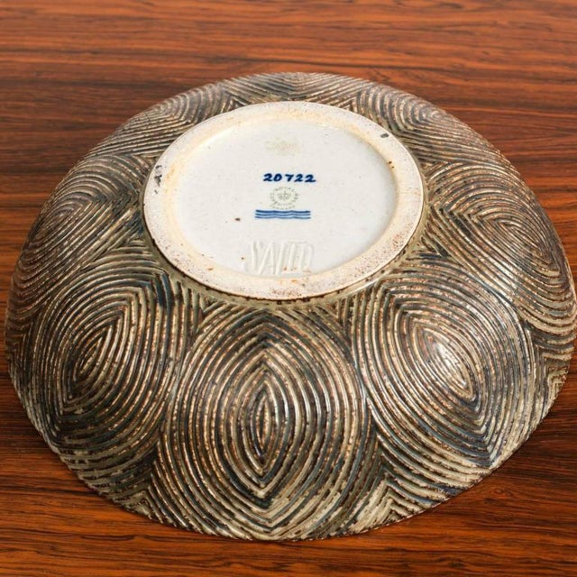 Mid-Century Modern Large Bowl with Sung Glaze by Axel Salto for Royal Copenhagen For Sale - Image 3 of 10