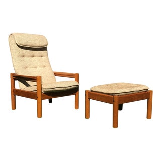 Tarm Stole Danish Modern Teak Lounge Chair & Ottoman For Sale