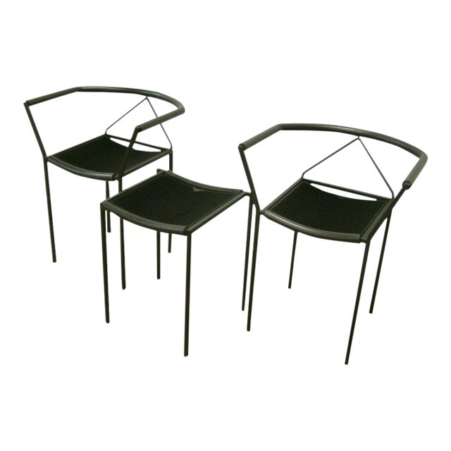 Maurizio Peregalli Zeus Chairs and Stool Set - 3 Piece For Sale