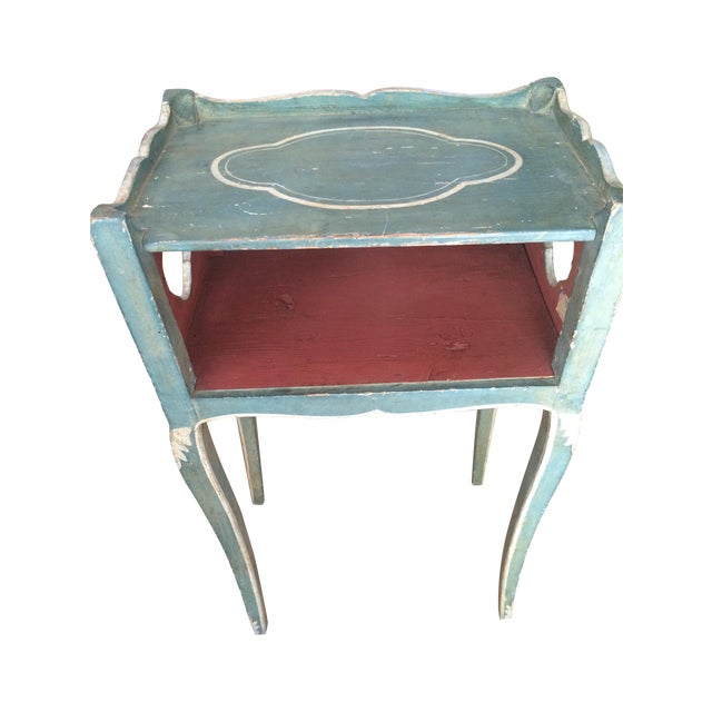 Antique French Country Side Table - Image 1 of 5