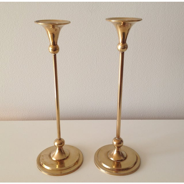 Brass Foundry Candle Holders - a Pair - Image 7 of 7
