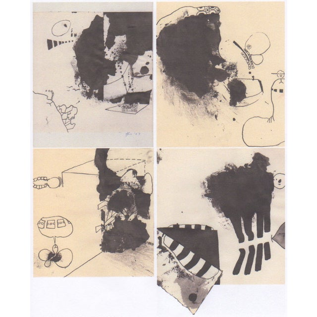 Lot of 4 Original B&W Abstract by Bill Geiss 1963 - Image 1 of 5