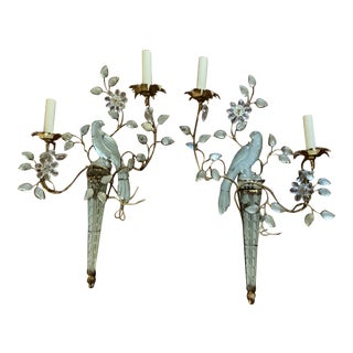 1930 French Bird Sconces - a Pair For Sale