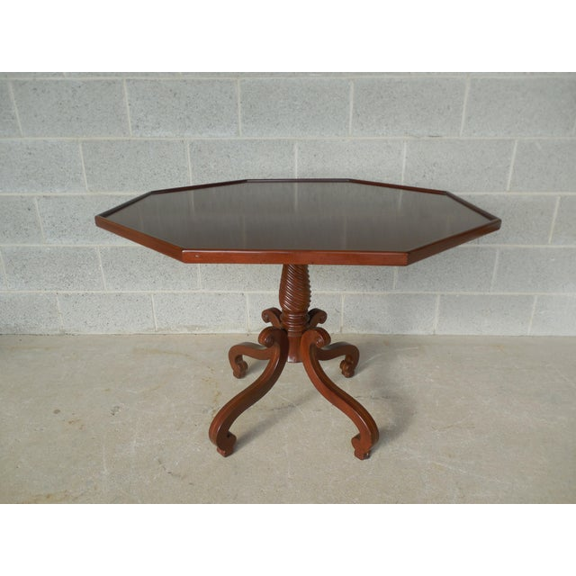 Hadleigh Furniture Mahogany Regency Style Center Entrance Accent Table For Sale - Image 10 of 10