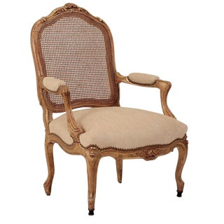 19th Century French Gilt Wood Armchair For Sale