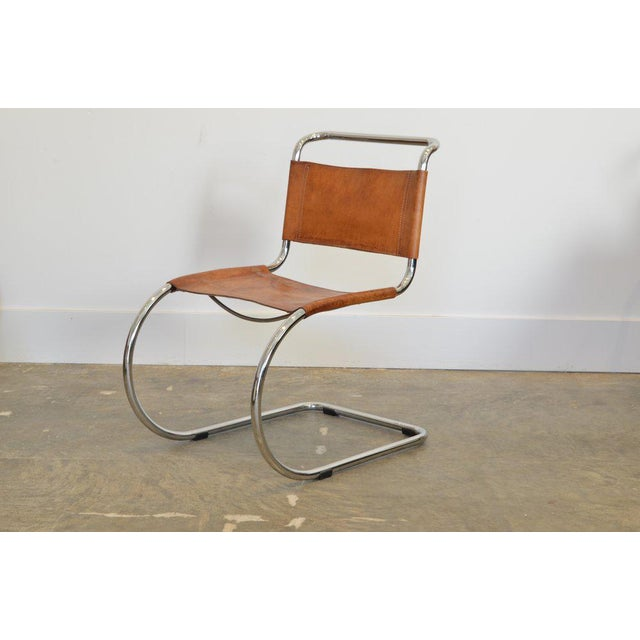 Metal Set of Six Cantilever Chairs by Mies Van Der Rohe For Sale - Image 7 of 8