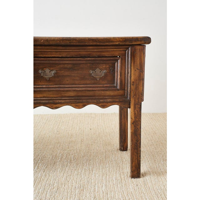 19th Century English Country Georgian Oak Sideboard Dresser For Sale - Image 9 of 13