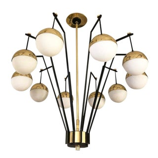 Italian Modern Ten Globe Chandelier For Sale