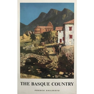 French Vintage Travel Poster, 1960s, Basque Country For Sale