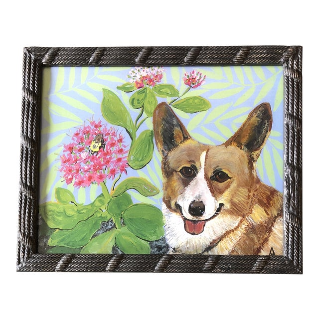 Corgie Dog Print by Contemporary Artist Judy Henn For Sale