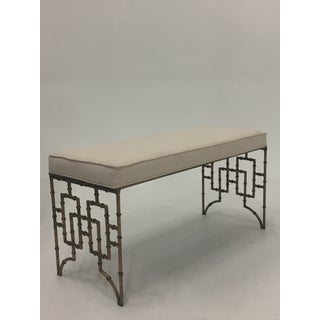 1960s Hollywood Regency Gilt Faux Bamboo Bench Preview