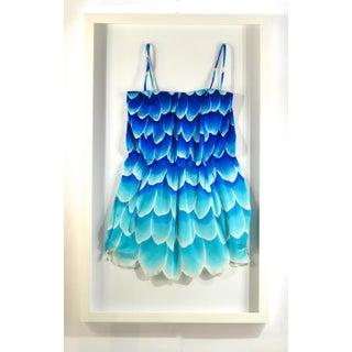 Framed Vintage Blue Swim Suit