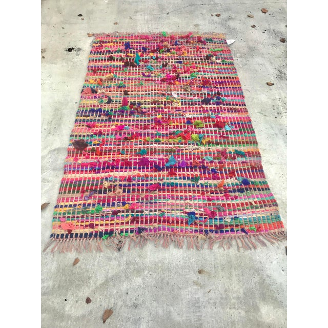 Indian Multicolor Rug - 4′ × 6′ For Sale - Image 11 of 11