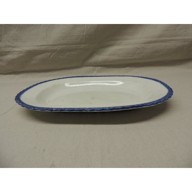 Antique Blue & White Ironstone English Platter - Image 3 of 5