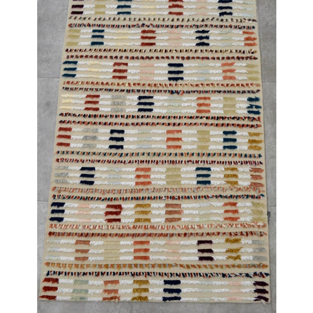 Hand Knotted Oushak Runner Rug - 2′8″ X 9′10″ - Image 8 of 10