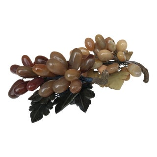Vintage Jade Grape Clusters - a Pair For Sale