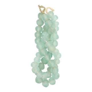 Beach and Sea Glass Bead Strands - a Pair For Sale