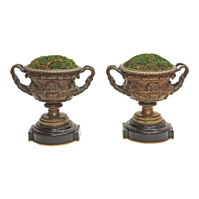 Pair of Grand Tour Urns / Warwick Cups - Image 1 of 7