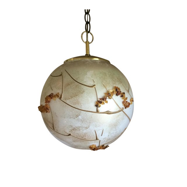 Mid-Century Globe Swag Lamp - Image 1 of 11