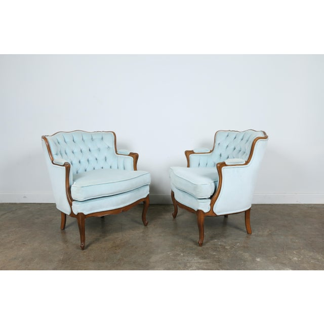 Italian-Style Chairs in Baby Blue - A Pair - Image 5 of 11