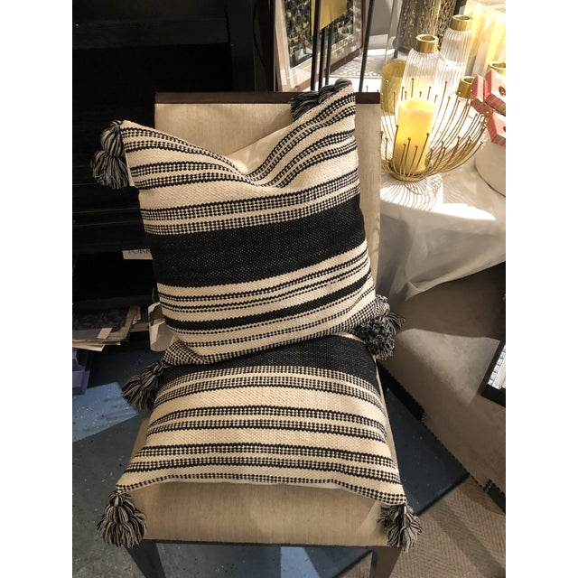 2020s Kennith Ludwig Chicago Farm House Woven Pillow For Sale - Image 5 of 6