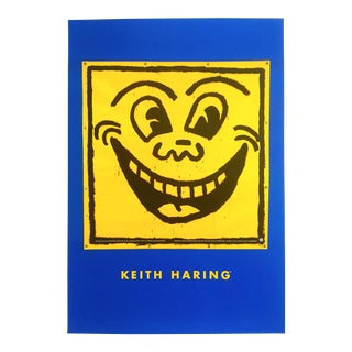 "Keith Haring Estate Rare Vintage 1993 Lithograph Print Pop Art Poster "" Smile "" 1981 For Sale"