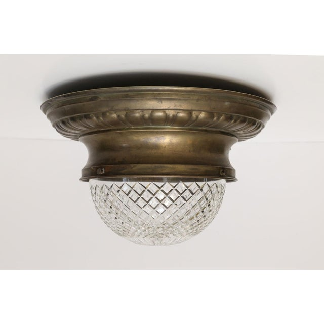 Gold Repousse Flush Mount Light For Sale - Image 8 of 11
