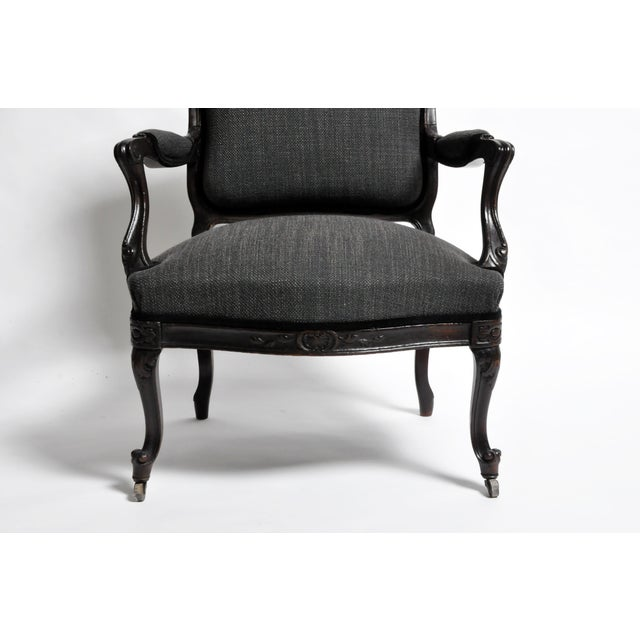 Gray 19th Century Louis XV Style French Armchairs - Set of 4 For Sale - Image 8 of 13