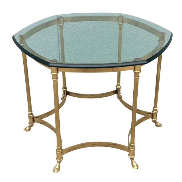 Vintage La Barge Octagonal Brass Side Table - Image 1 of 8