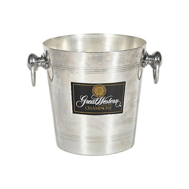 Silver French Champagne Ice Bucket W/ Handles For Sale - Image 8 of 8