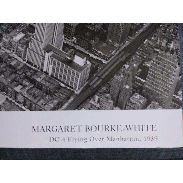 1939 Vintage Margaret Bourke White DC-4 Flying Over Manhattan Poster For Sale - Image 4 of 6
