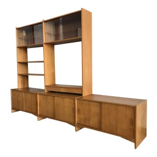 Danish Modern Freestanding Wall Unit For Sale