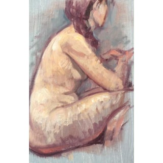 """Peter Contemporary Nude Figure """"Seated Woman With Braid"""" For Sale"""