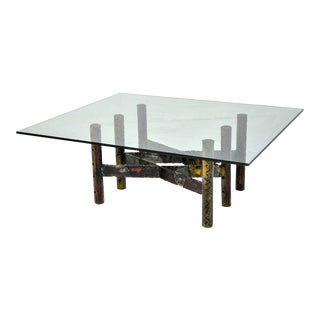 Paul Evans Welded Steel 1967 Cocktail Table For Sale