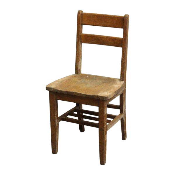 Small Wooden School Chair For Sale