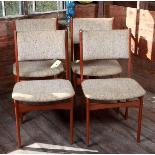Vintage Teak Danish Modern Dining Chairs - Set of 4 - Image 3 of 9
