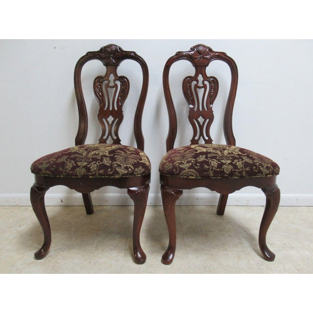 Thomasville Solid Mahogany Chippendale Dining Chairs - A Pair For Sale - Image 10 of 10