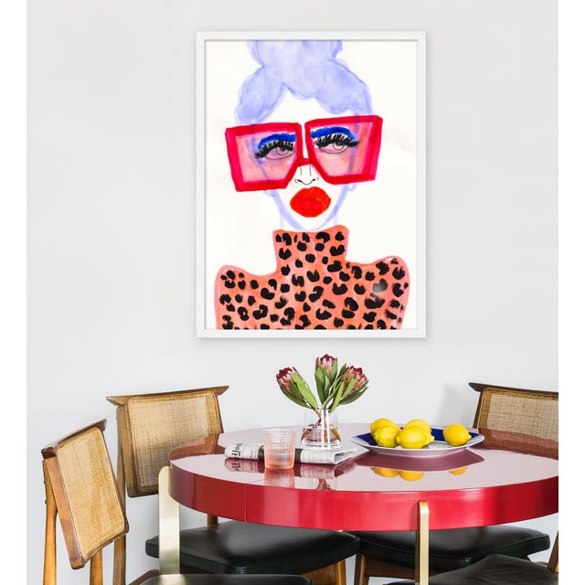 """Giclée on textured fine art paper with white frame. Unframed print dimensions: 22.25"""" x 30.25"""". Please allow 5-7 business..."""