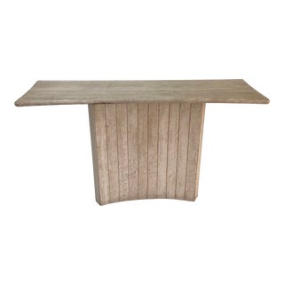 Art Deco Travertine Console Table For Sale